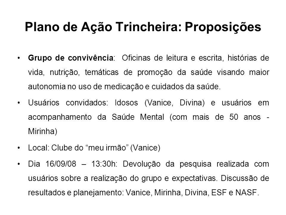 Plano de Ação Trincheira: Proposições