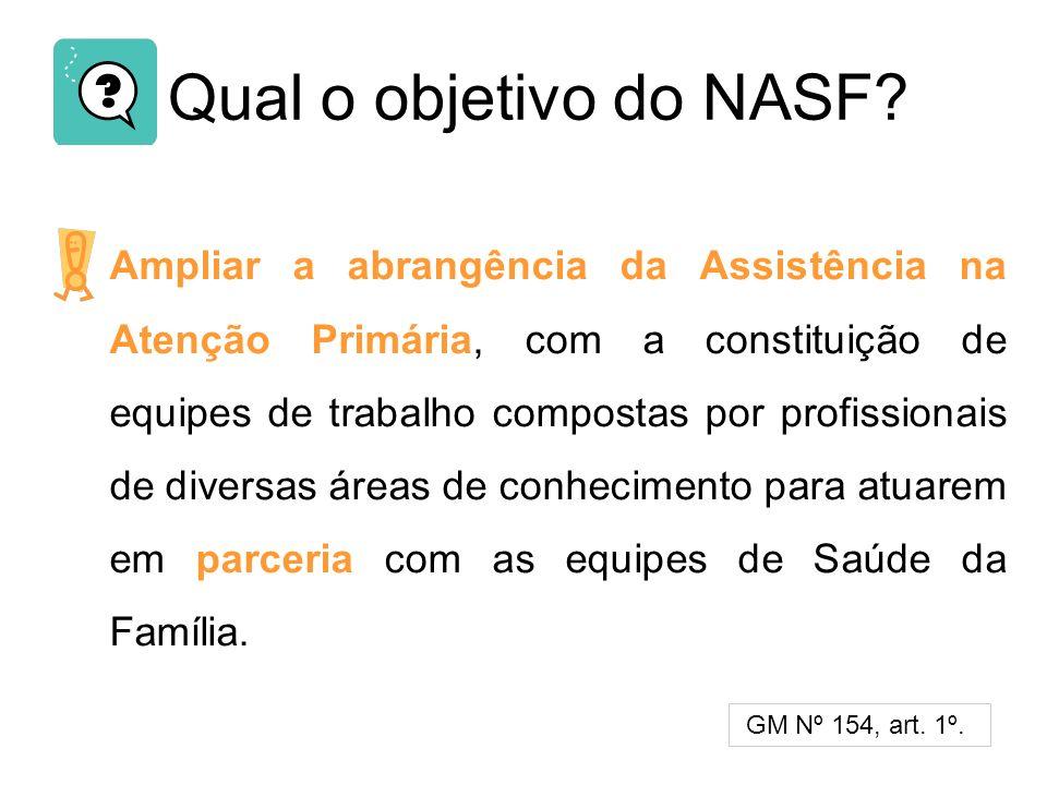 Qual o objetivo do NASF