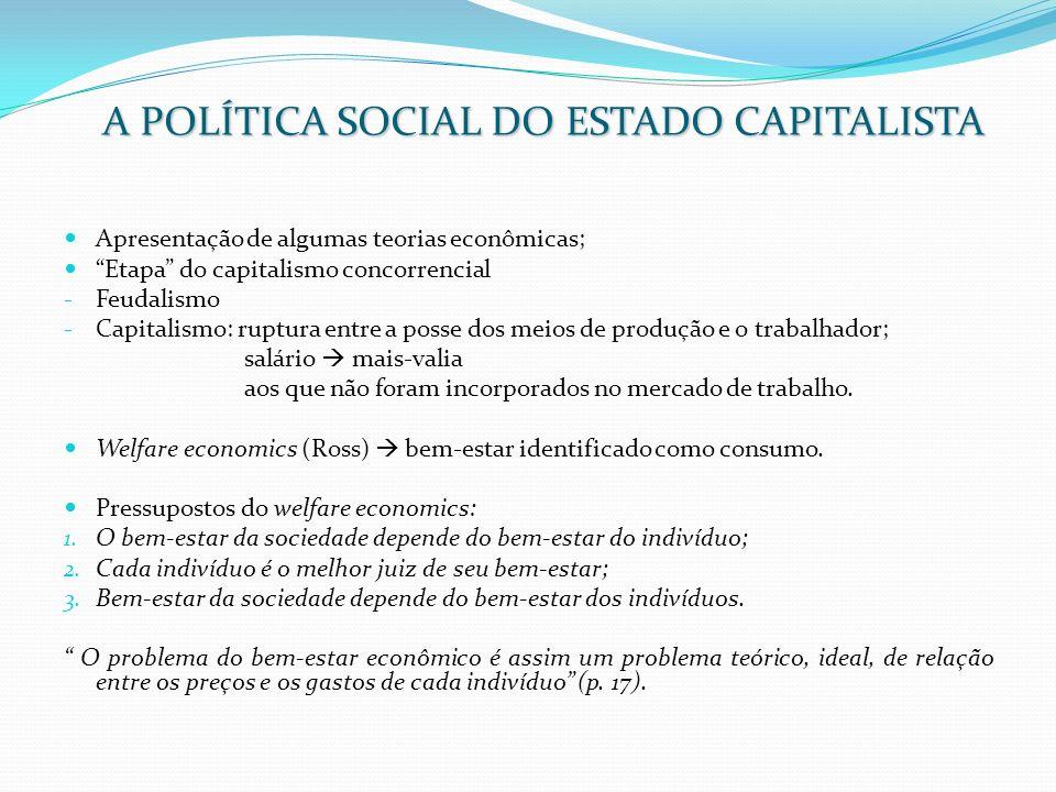 A POLÍTICA SOCIAL DO ESTADO CAPITALISTA