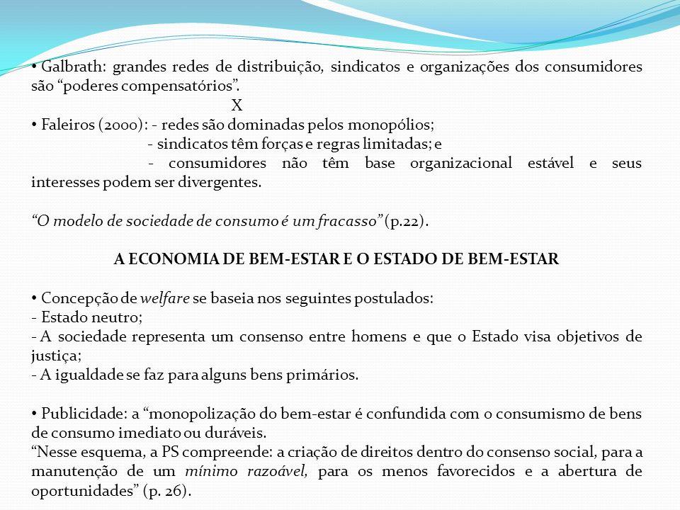 A ECONOMIA DE BEM-ESTAR E O ESTADO DE BEM-ESTAR