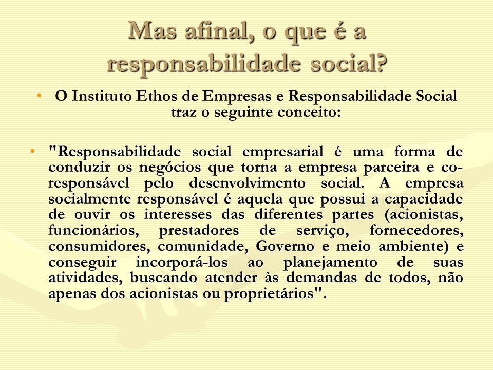 Mas afinal, o que é a responsabilidade social