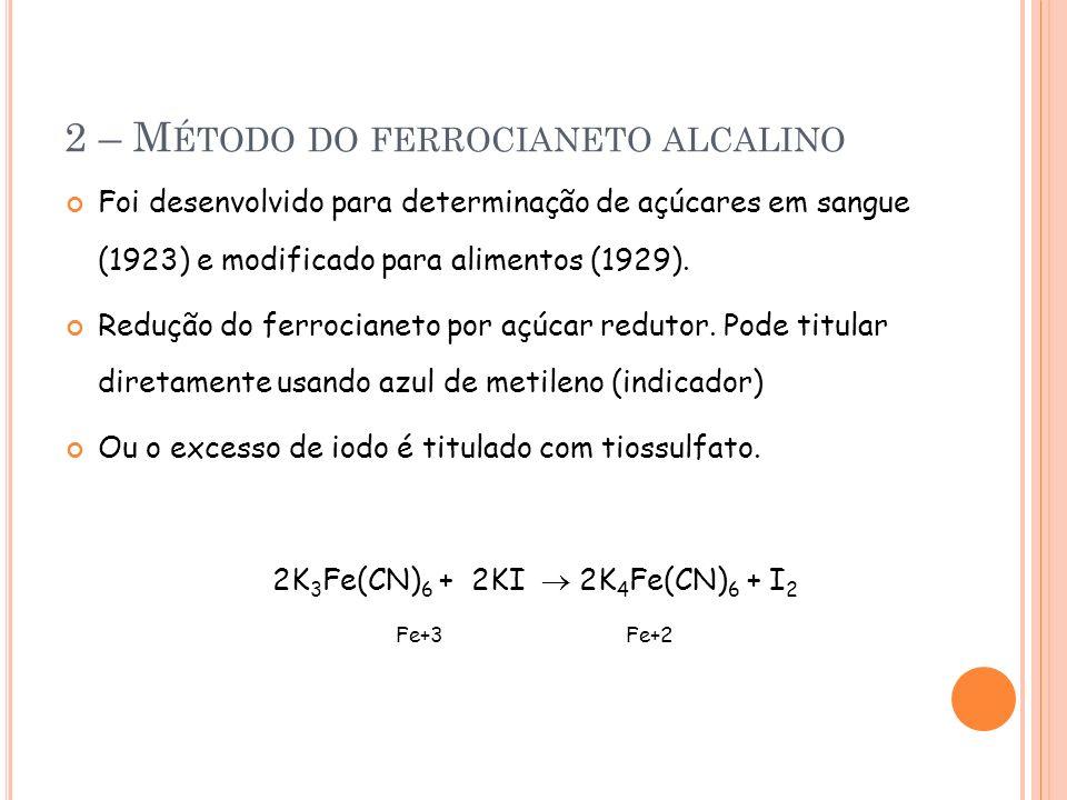 2 – Método do ferrocianeto alcalino