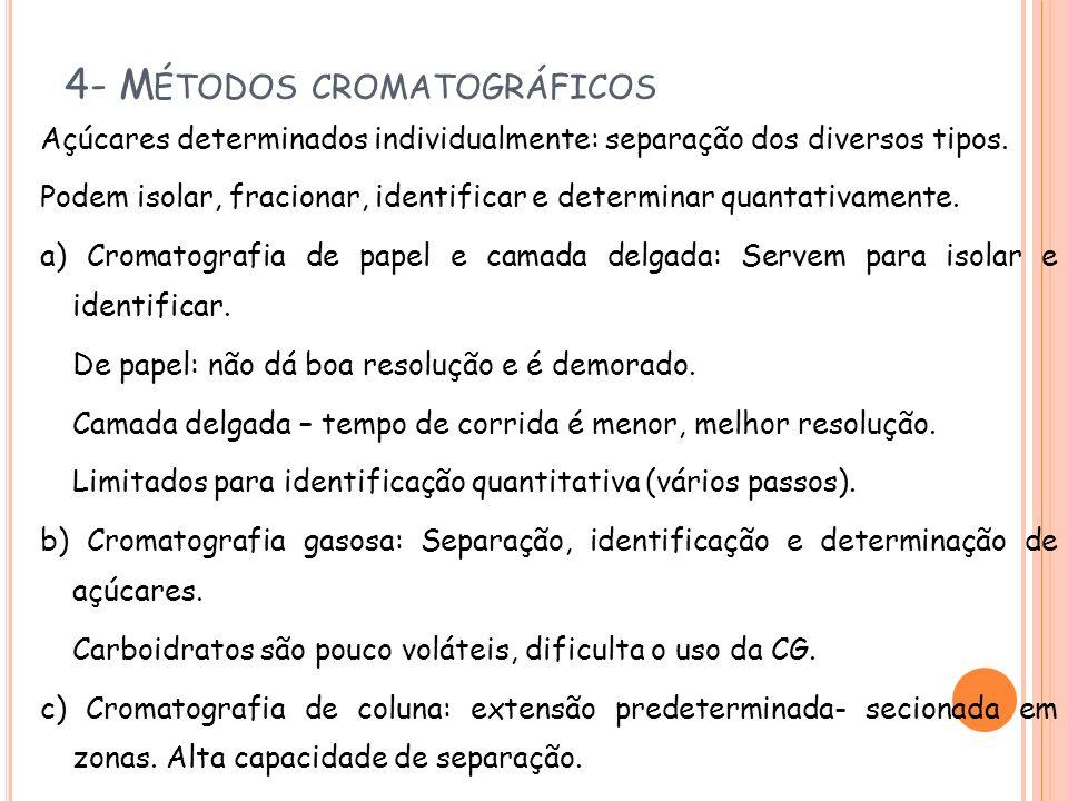 4- Métodos cromatográficos