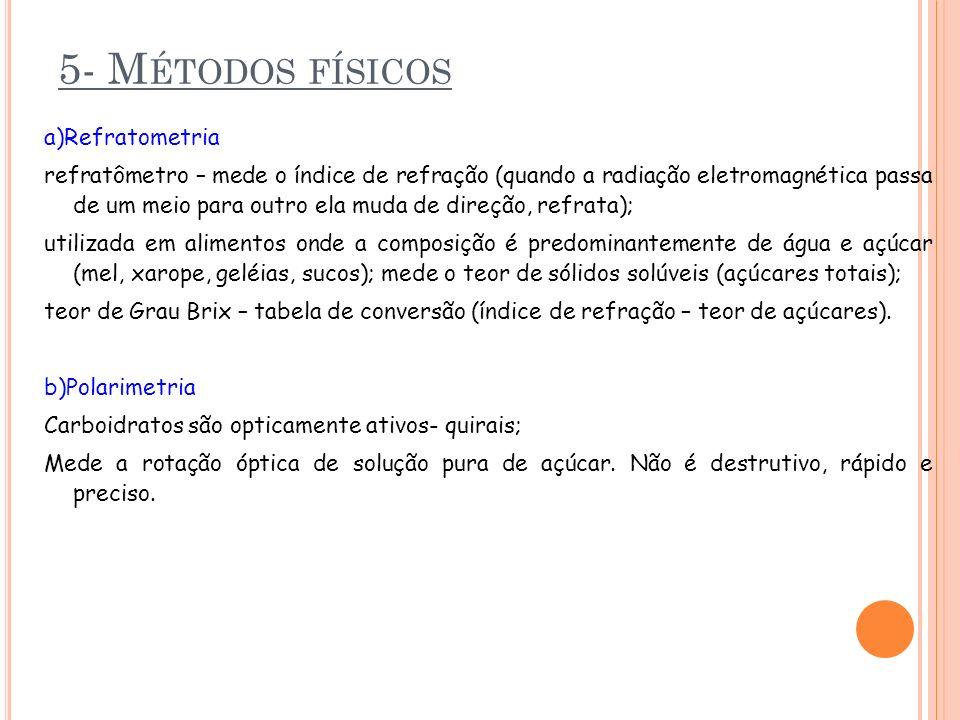 5- Métodos físicos a)Refratometria