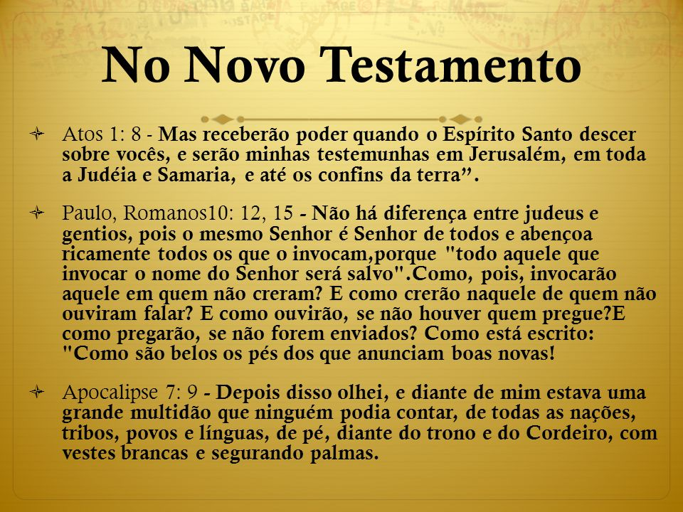No Novo Testamento