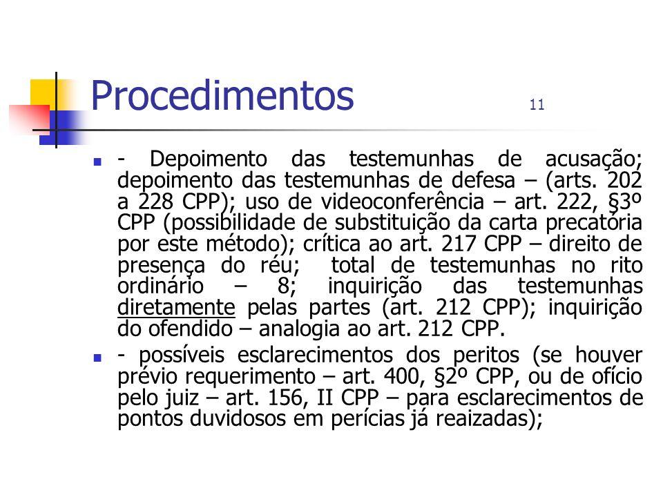 Procedimentos 11