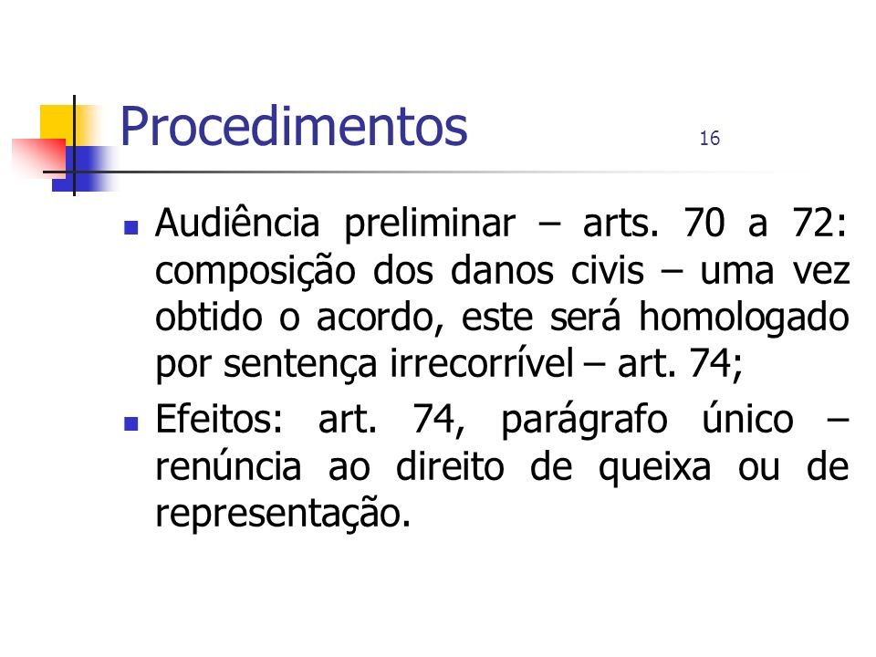 Procedimentos 16