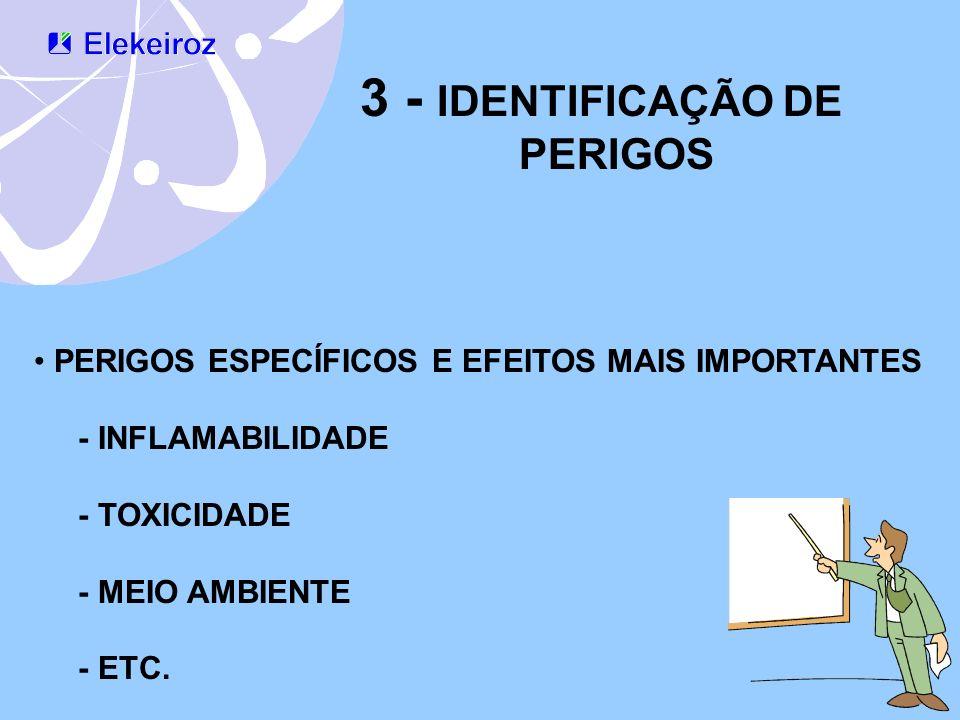 3 - IDENTIFICAÇÃO DE PERIGOS