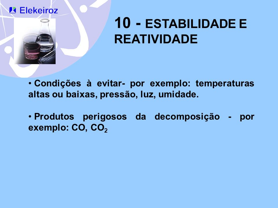 10 - ESTABILIDADE E REATIVIDADE