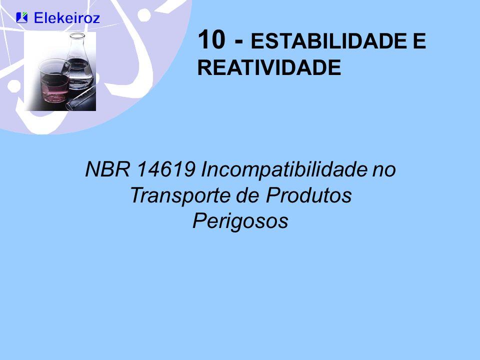 NBR 14619 Incompatibilidade no Transporte de Produtos Perigosos