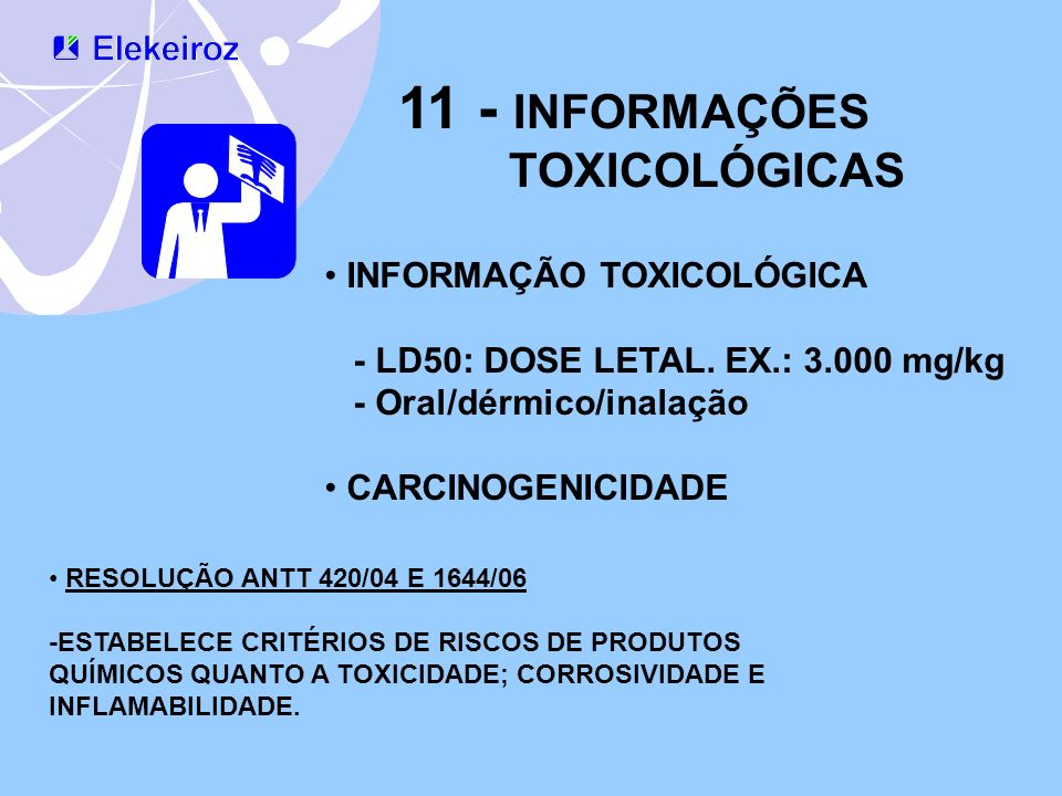 11 - INFORMAÇÕES TOXICOLÓGICAS