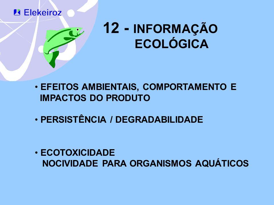 12 - INFORMAÇÃO ECOLÓGICA