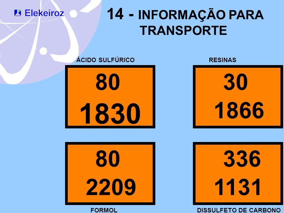 1830 80 30 1866 80 336 2209 1131 14 - INFORMAÇÃO PARA TRANSPORTE