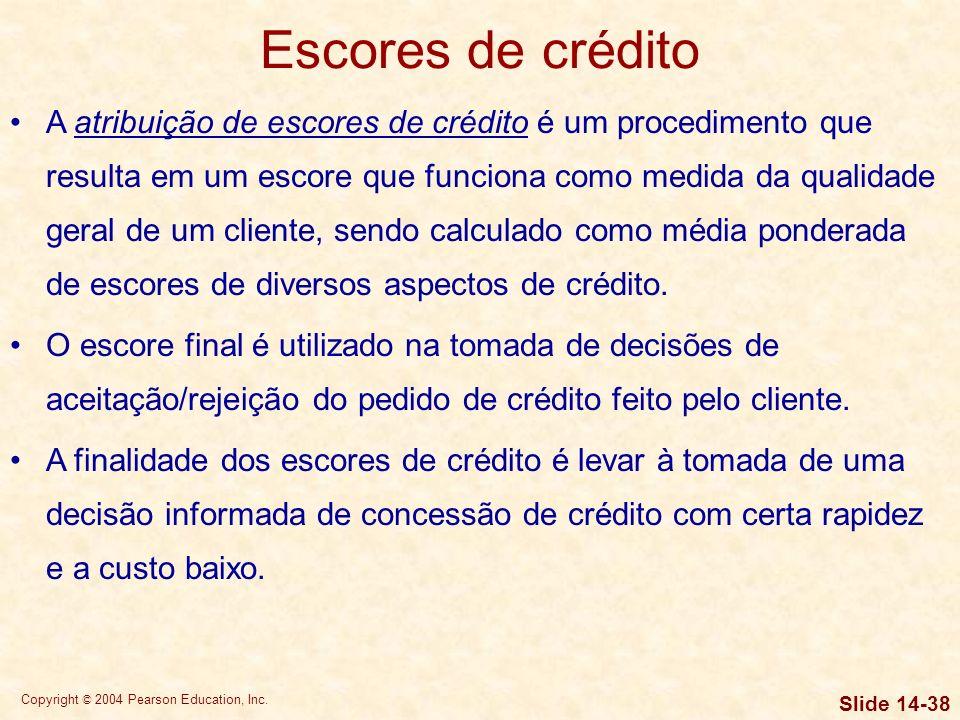 Escores de crédito