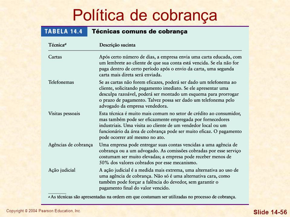Política de cobrança