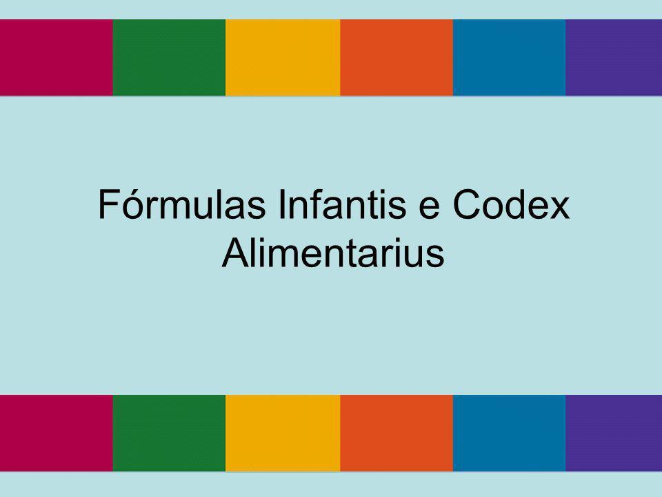 Fórmulas Infantis e Codex Alimentarius