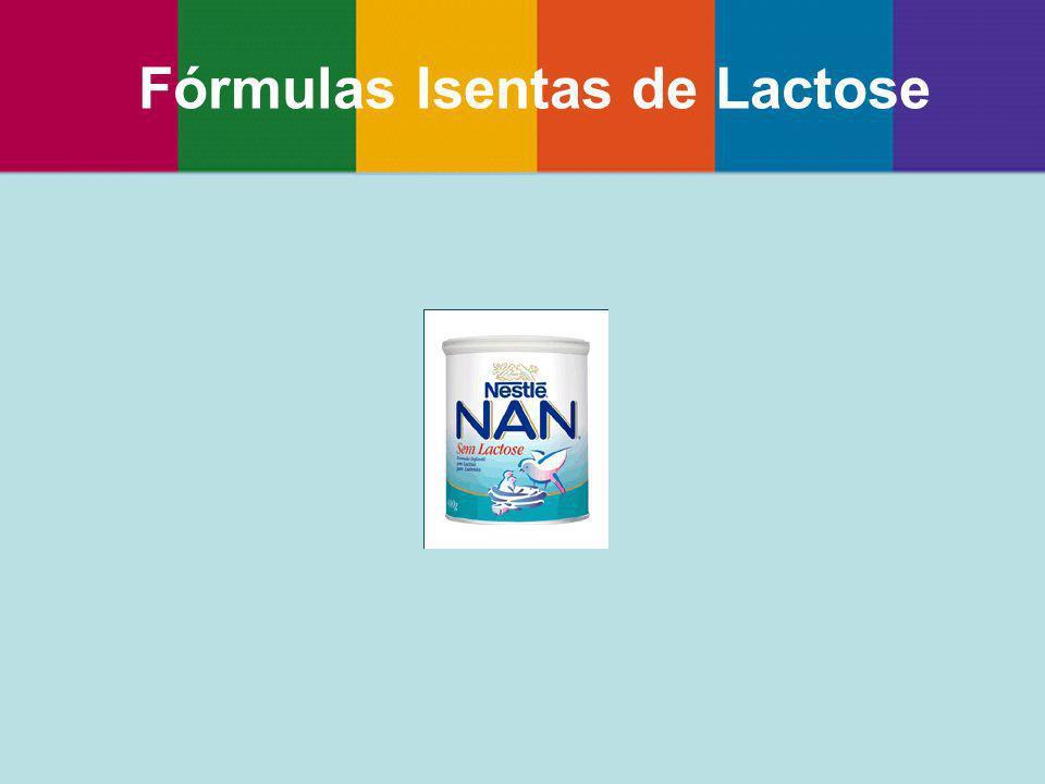 Fórmulas Isentas de Lactose