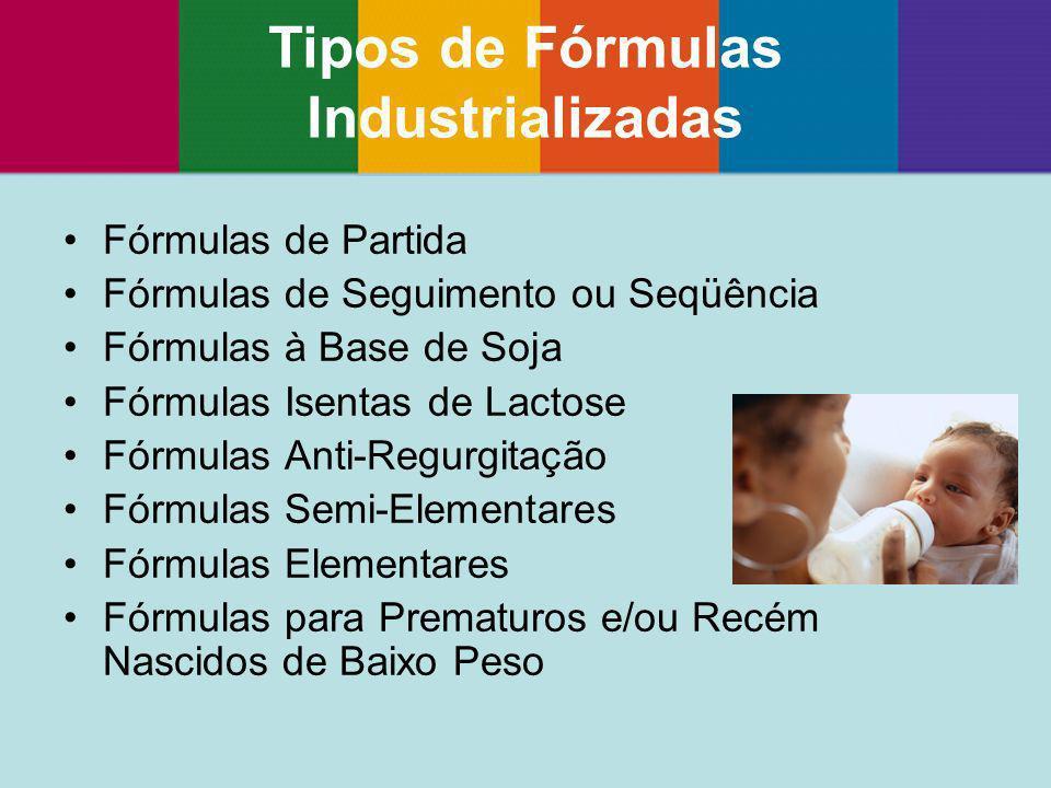 Tipos de Fórmulas Industrializadas