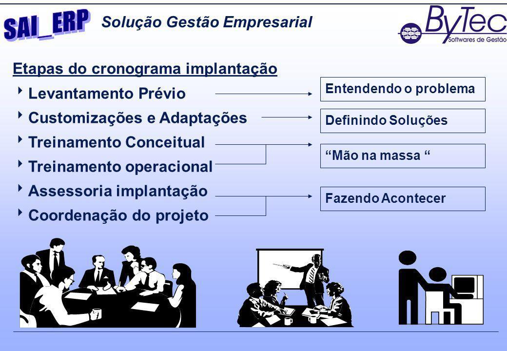 SAI_ERP Solução Gestão Empresarial Etapas do cronograma implantação