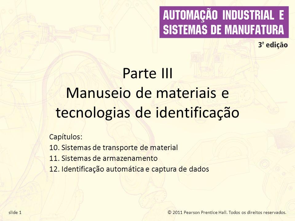 Parte III Manuseio de materiais e tecnologias de identificação
