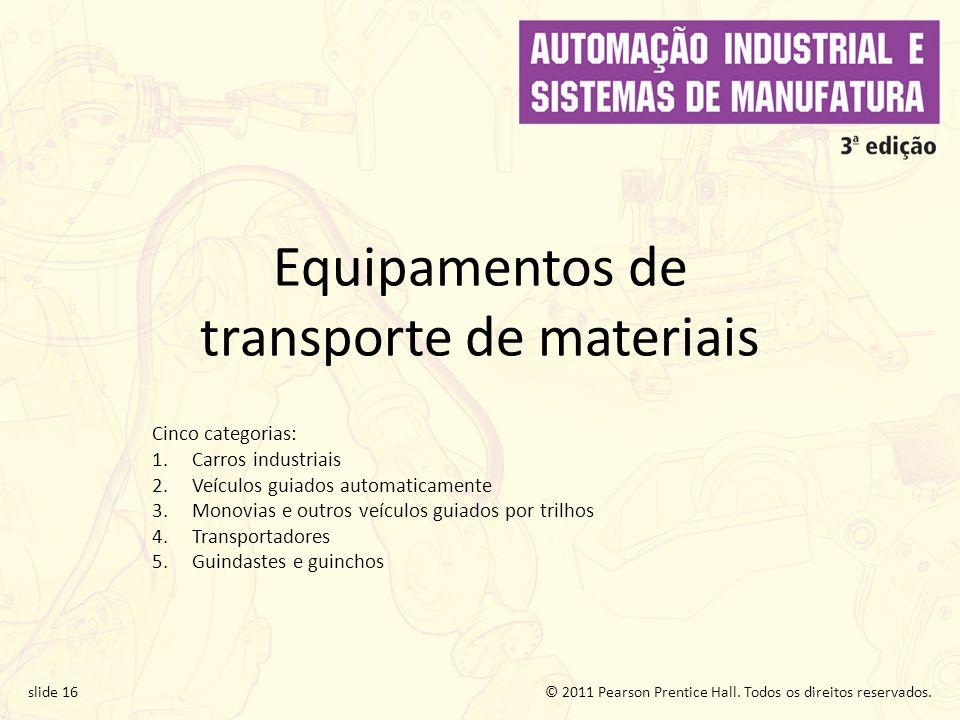 Equipamentos de transporte de materiais
