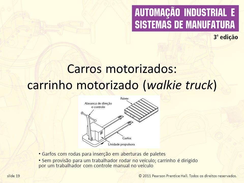 Carros motorizados: carrinho motorizado (walkie truck)