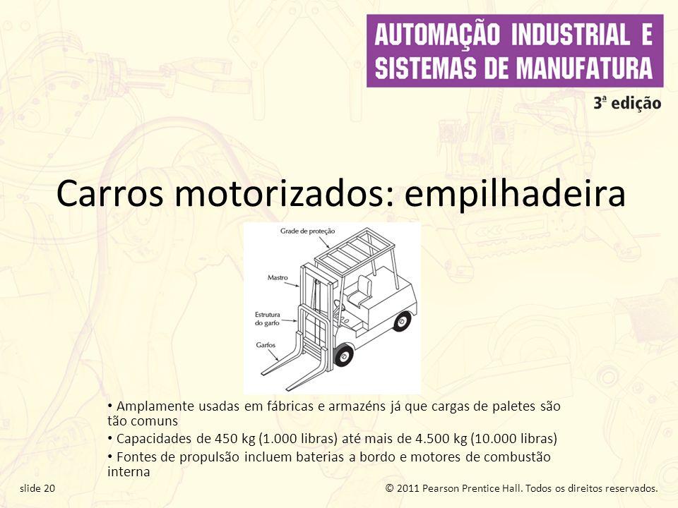 Carros motorizados: empilhadeira