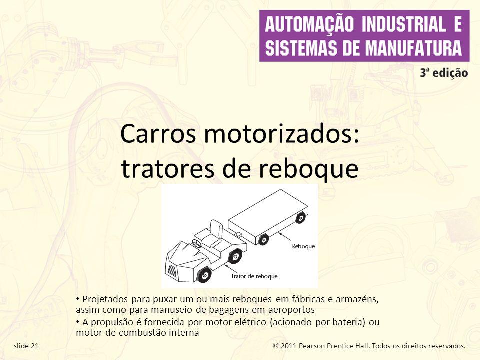 Carros motorizados: tratores de reboque