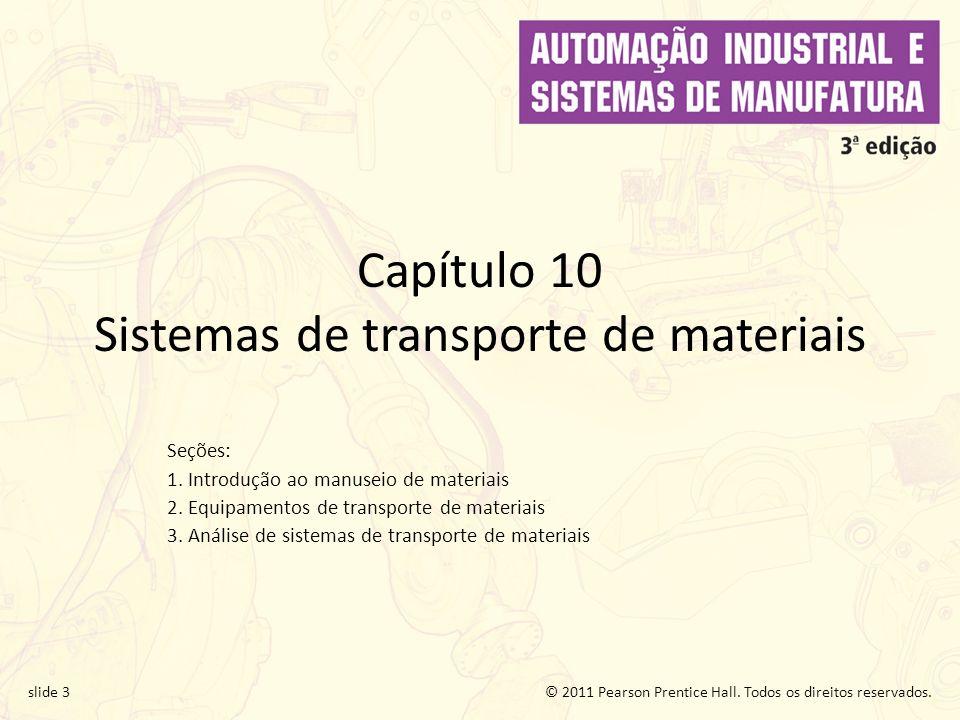 Capítulo 10 Sistemas de transporte de materiais