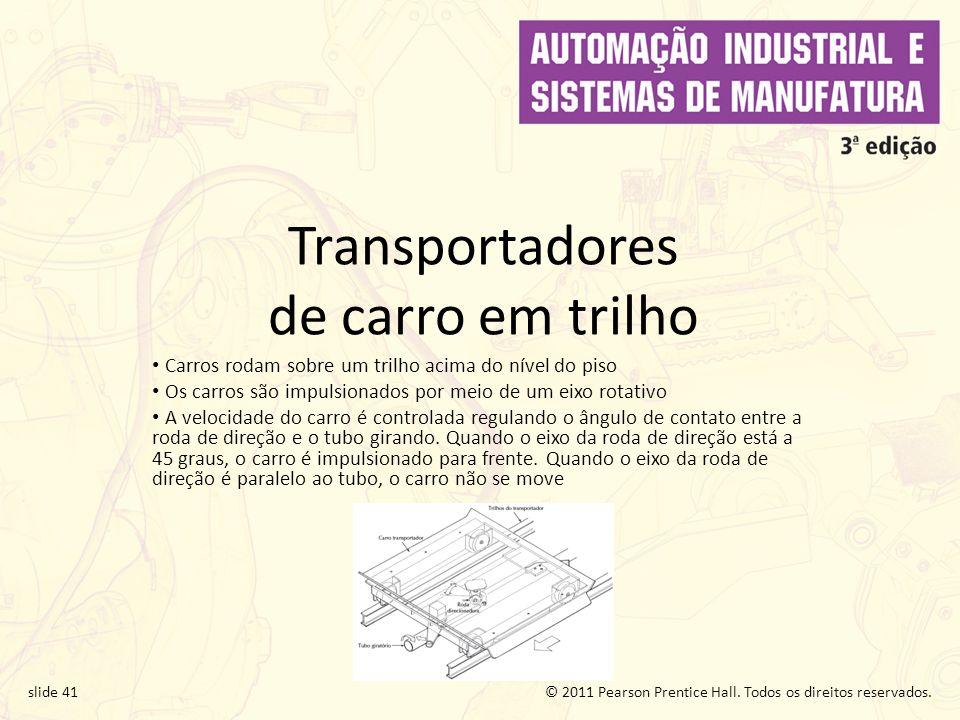 Transportadores de carro em trilho