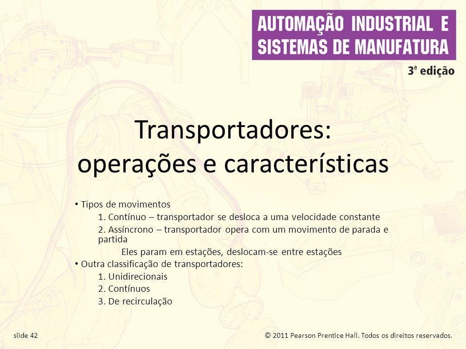 Transportadores: operações e características