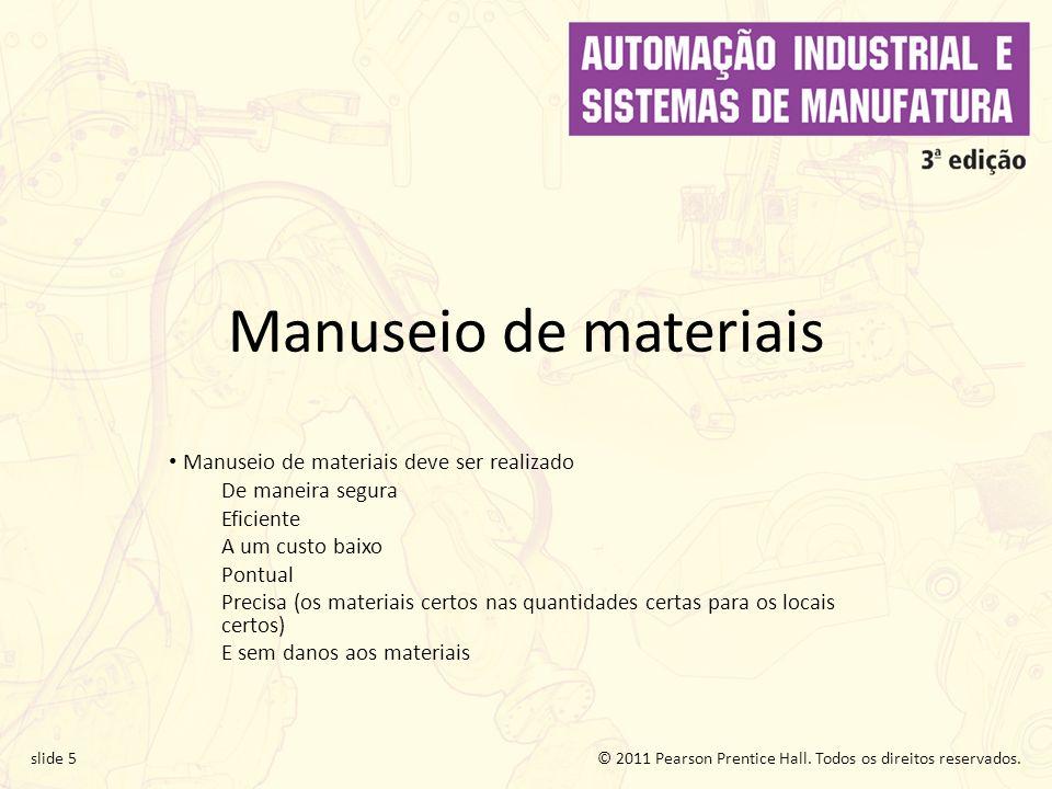 Manuseio de materiais Manuseio de materiais deve ser realizado