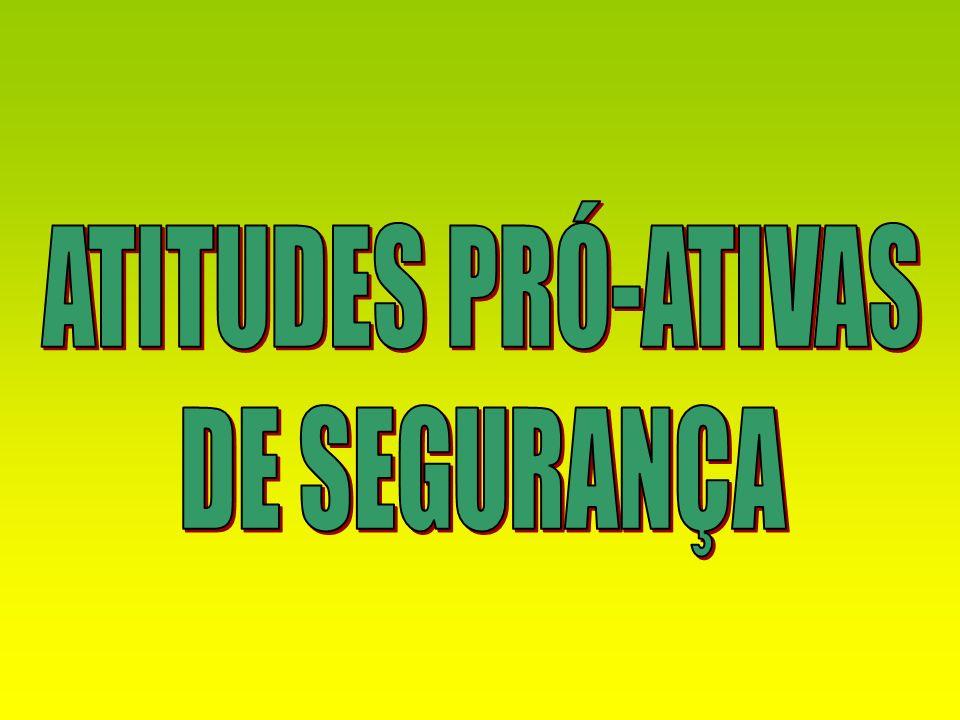 ATITUDES PRÓ-ATIVAS DE SEGURANÇA