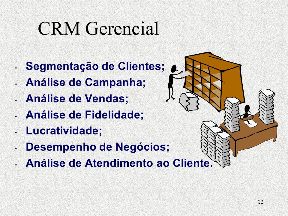 CRM Gerencial Segmentação de Clientes; Análise de Campanha;