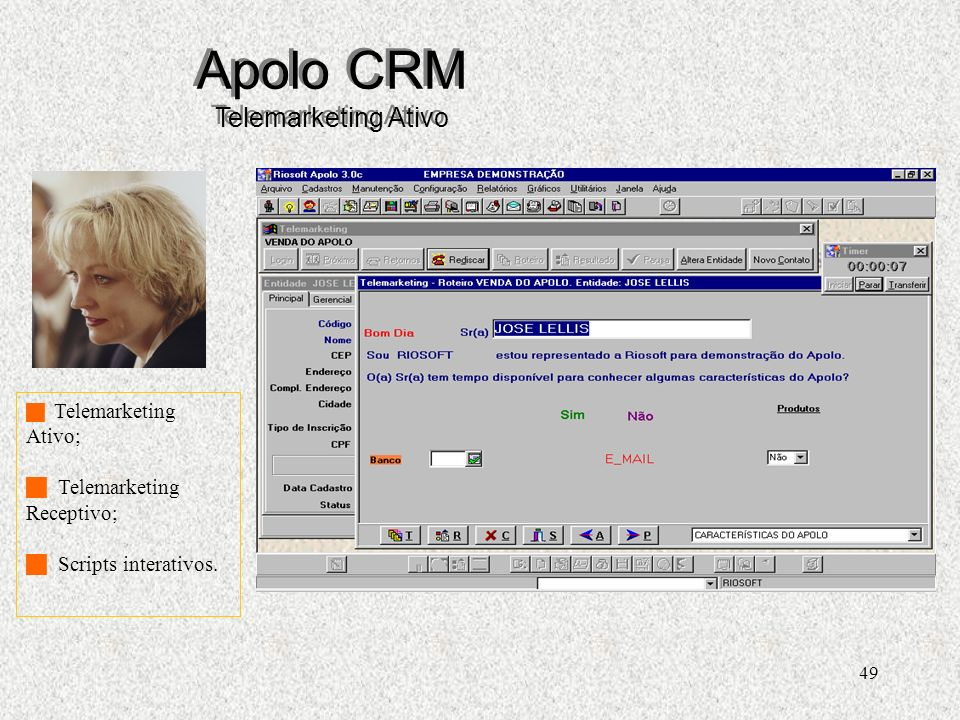 Apolo CRM Telemarketing Ativo