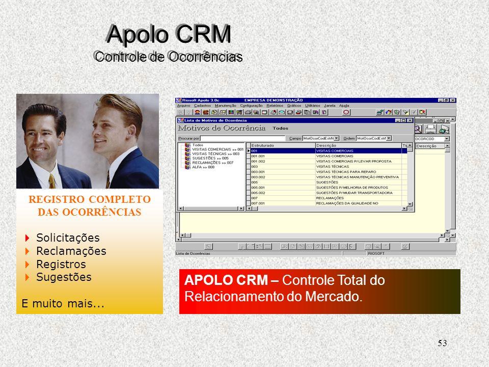 Apolo CRM Controle de Ocorrências