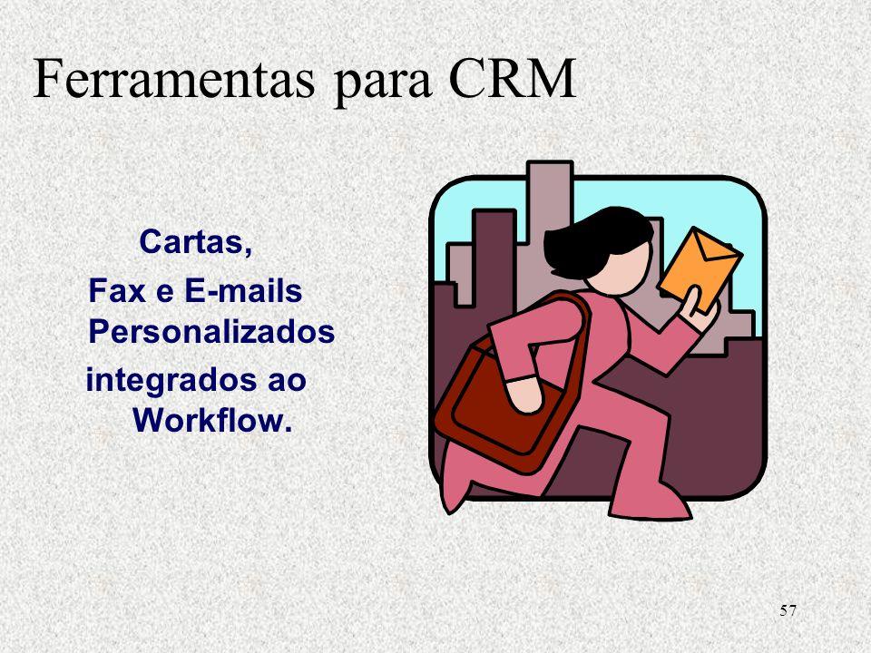 Fax e E-mails Personalizados integrados ao Workflow.