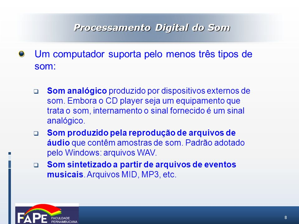 Processamento Digital do Som