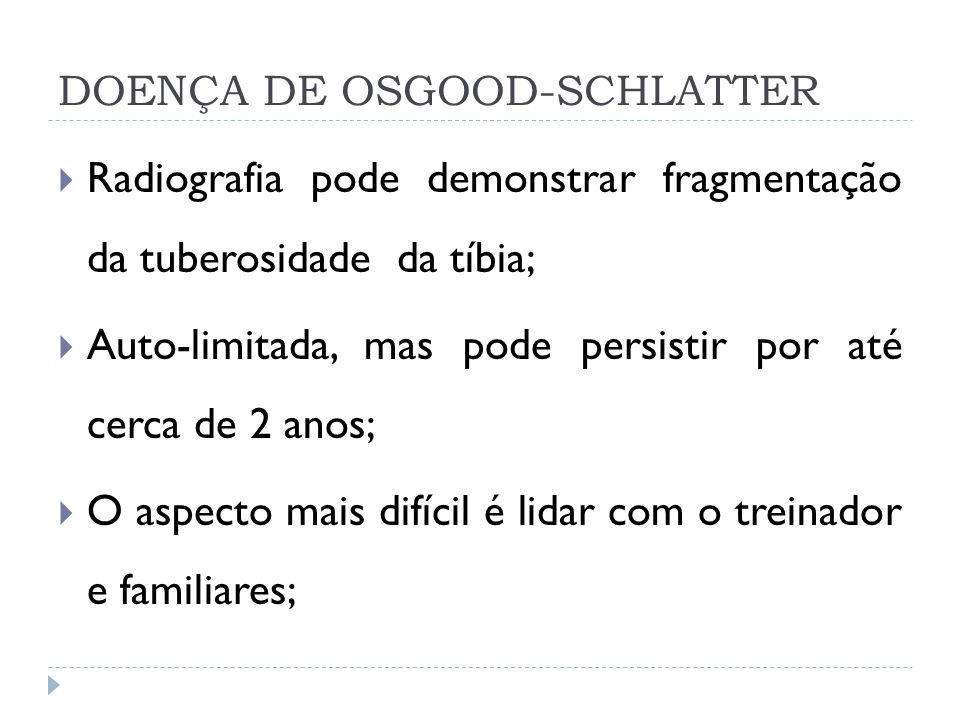 DOENÇA DE OSGOOD-SCHLATTER
