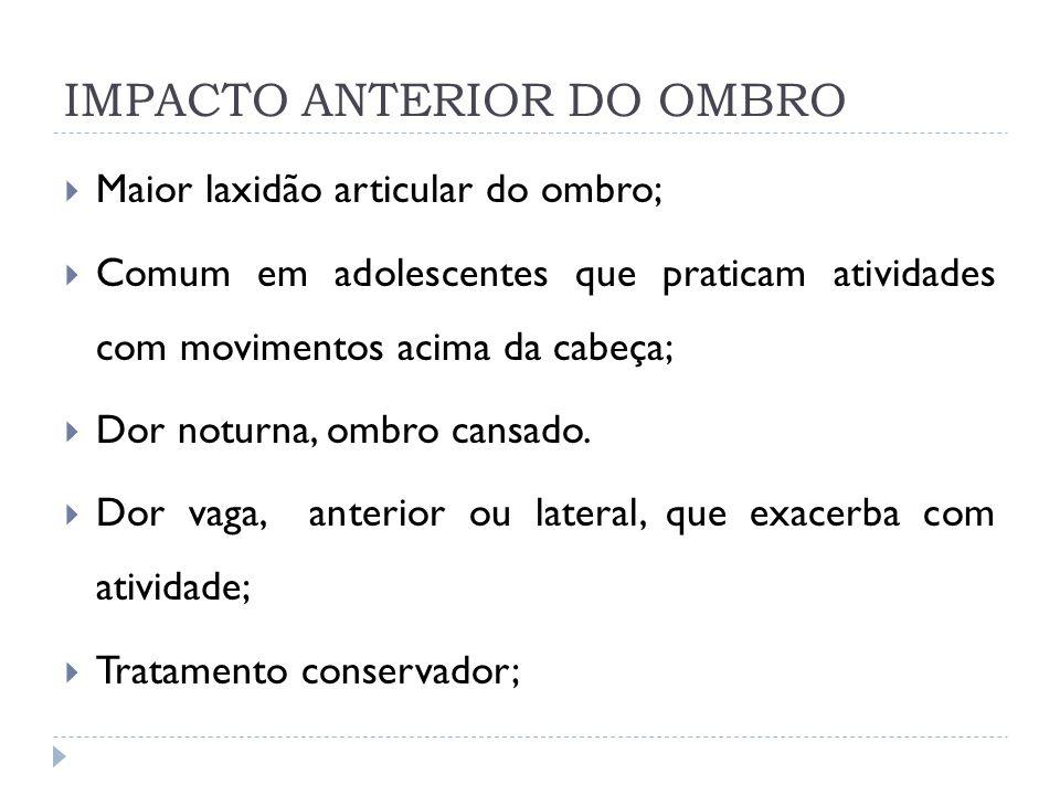 IMPACTO ANTERIOR DO OMBRO