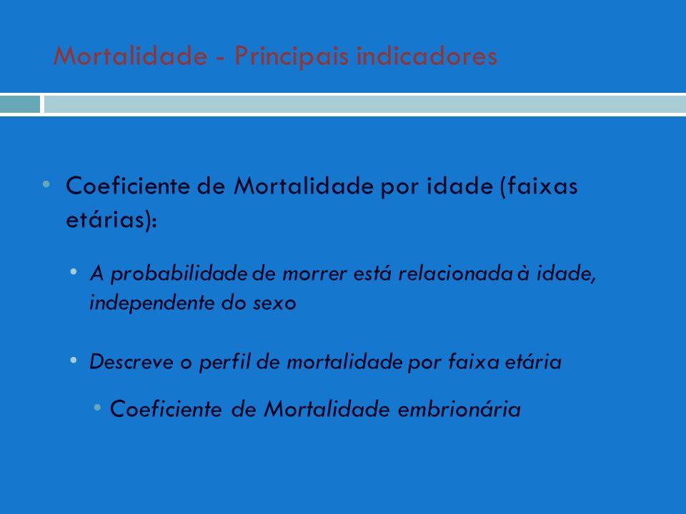 Mortalidade - Principais indicadores