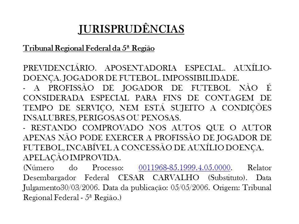 JURISPRUDÊNCIAS Tribunal Regional Federal da 5ª Região