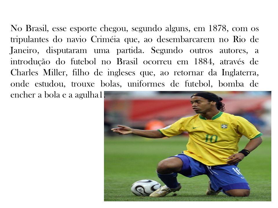 No Brasil, esse esporte chegou, segundo alguns, em 1878, com os tripulantes do navio Criméia que, ao desembarcarem no Rio de Janeiro, disputaram uma partida.