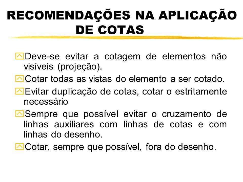 RECOMENDAÇÕES NA APLICAÇÃO DE COTAS