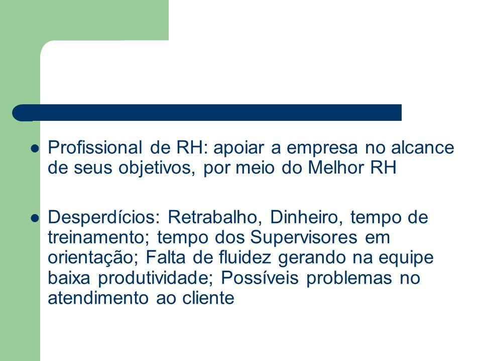 Profissional de RH: apoiar a empresa no alcance de seus objetivos, por meio do Melhor RH