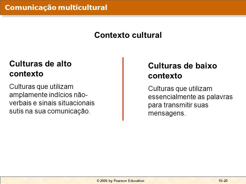 Culturas de alto contexto Culturas de baixo contexto