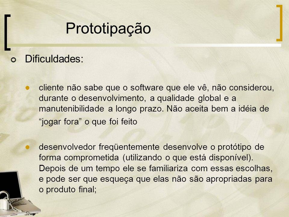 Prototipação Dificuldades: