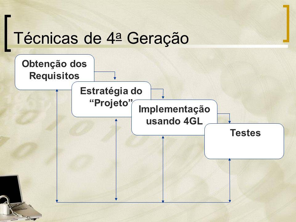 Técnicas de 4a Geração Obtenção dos Requisitos Estratégia do Projeto