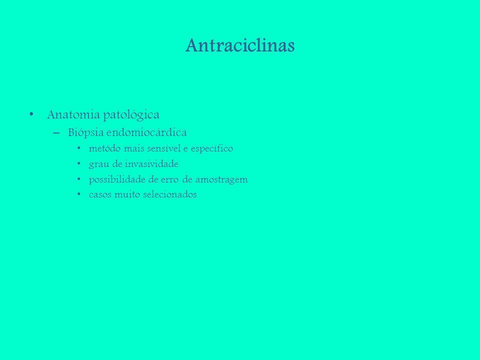 Antraciclinas Anatomia patológica Biópsia endomiocárdica