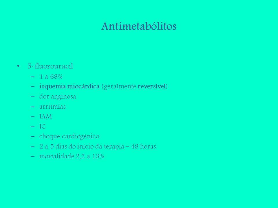 Antimetabólitos 5-fluorouracil 1 a 68%